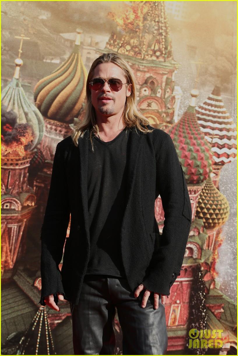 brad pitt world war z at moscow film festival 132895143