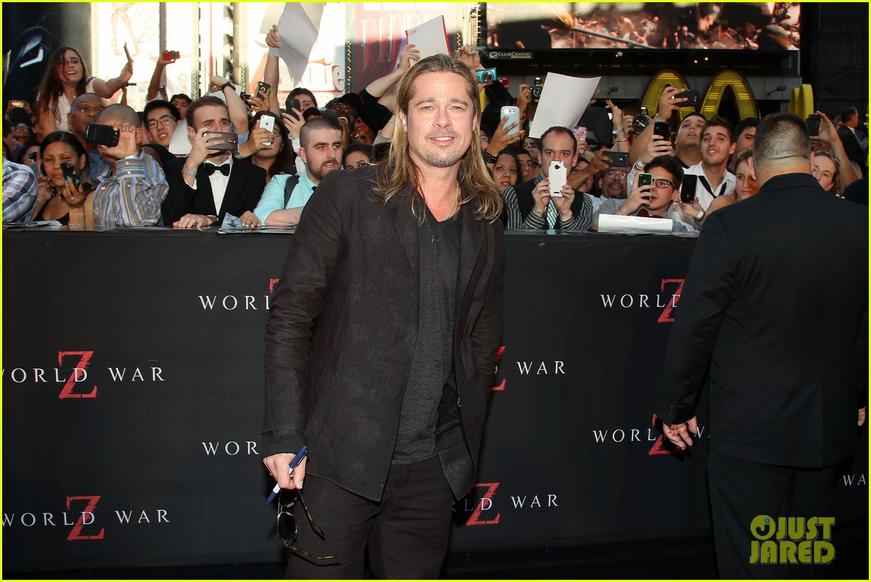brad pitt world war z new york premiere 292893171