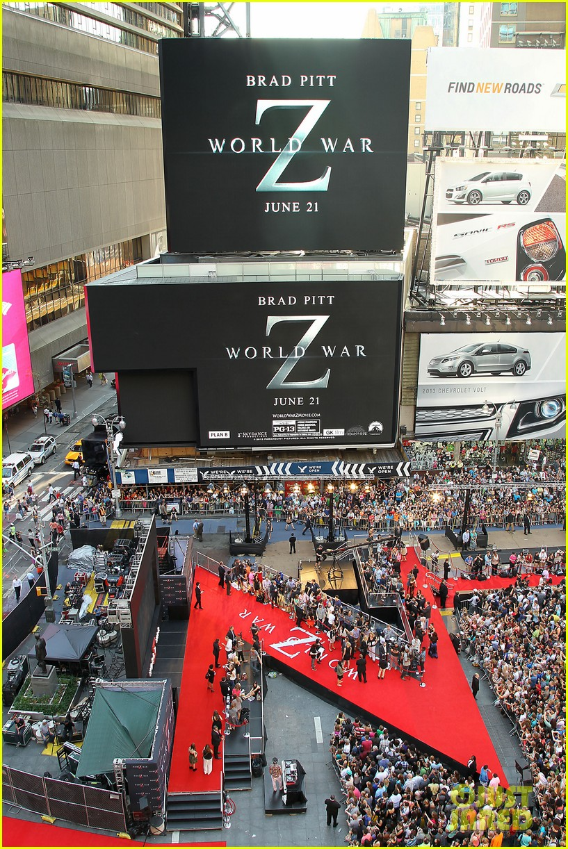 brad pitt world war z new york premiere 452893187