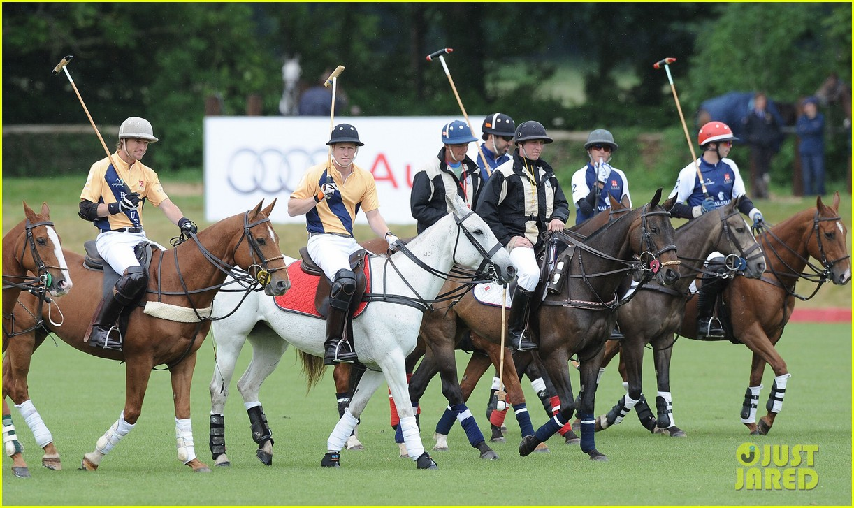prince william harry international audi polo game 06