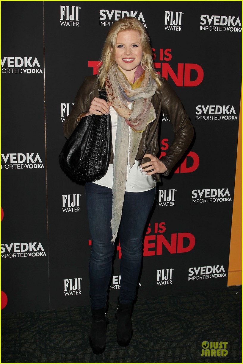 seth rogen megan hilty this is the end nyc screening 01
