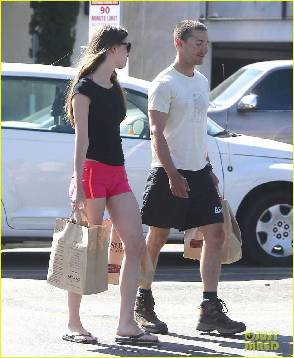 shia labeouf mia goth stock up for summer weekend 142895814