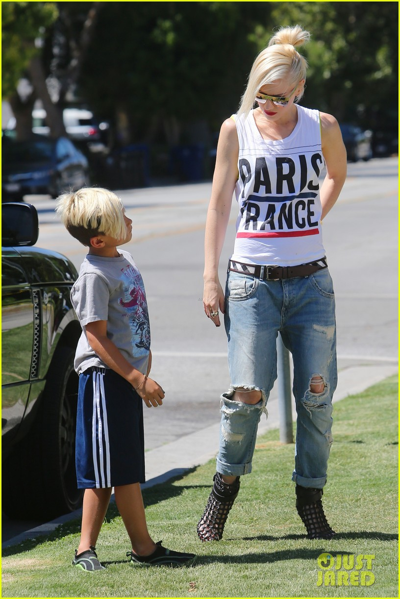 gwen stefani gavin rossdale ice cream with the kids 08