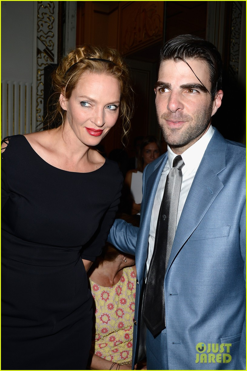 zachary quinto uma thurman front row at versace show 012901323