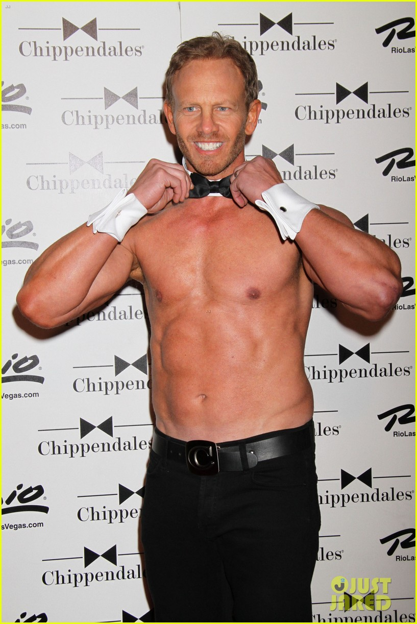 ian ziering shirtless chippendales debut 122887420