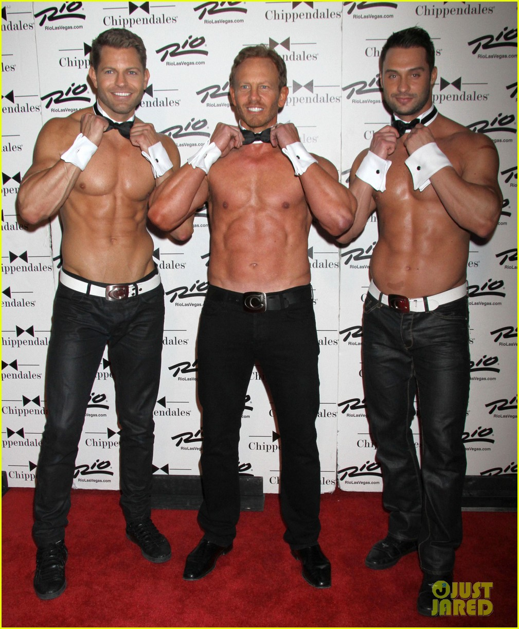 ian ziering shirtless chippendales debut 16