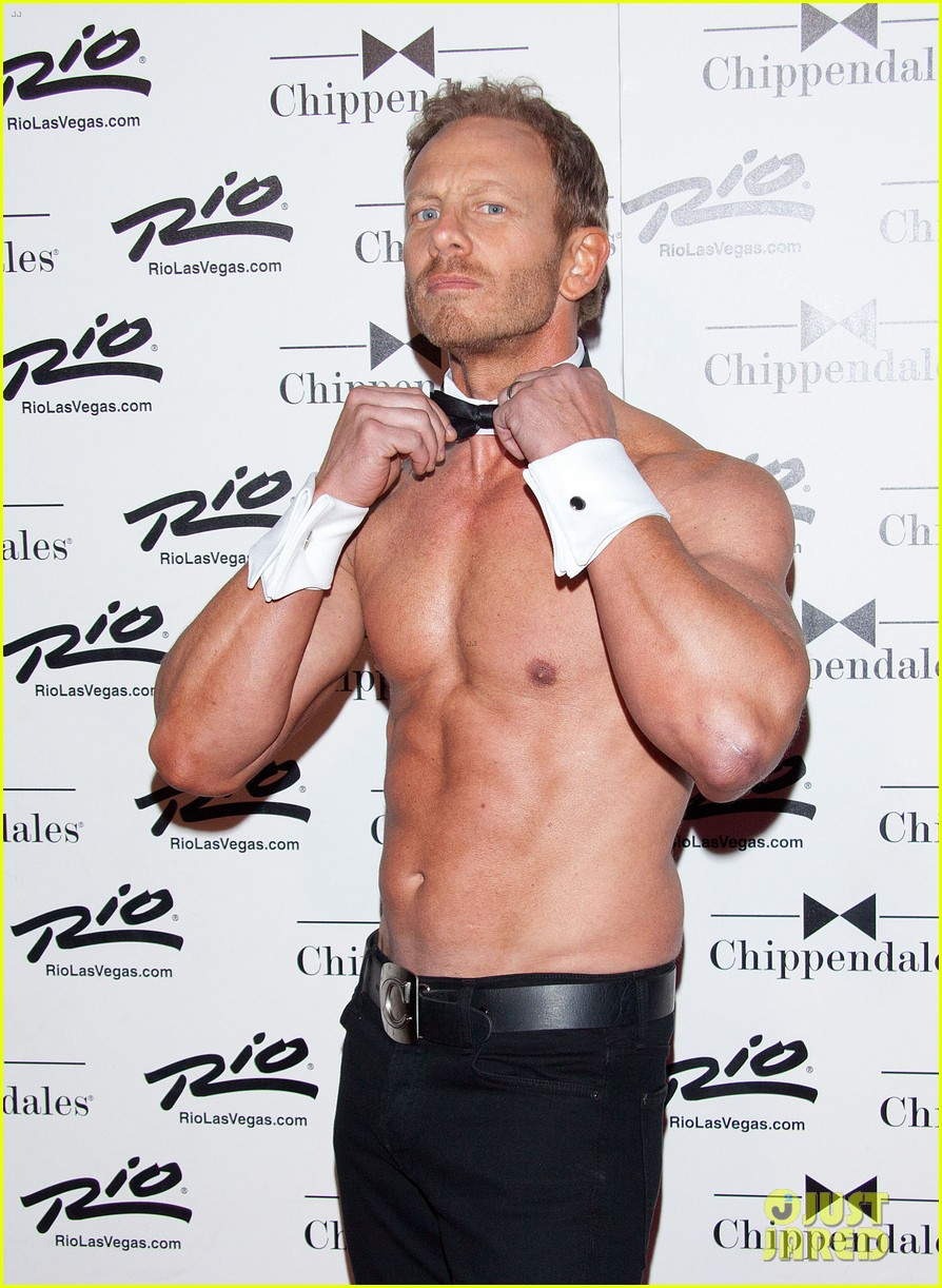 ian ziering shirtless chippendales debut 242887432
