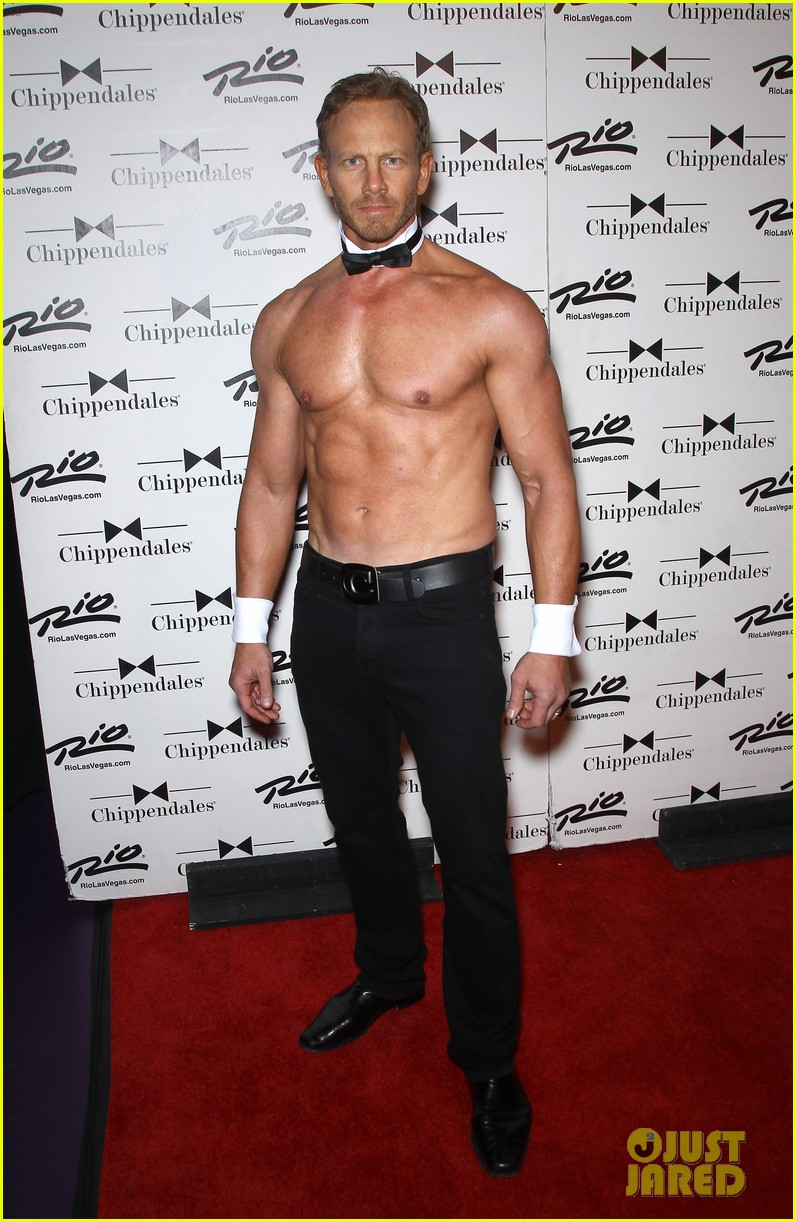 ian ziering shirtless chippendales debut 272887435