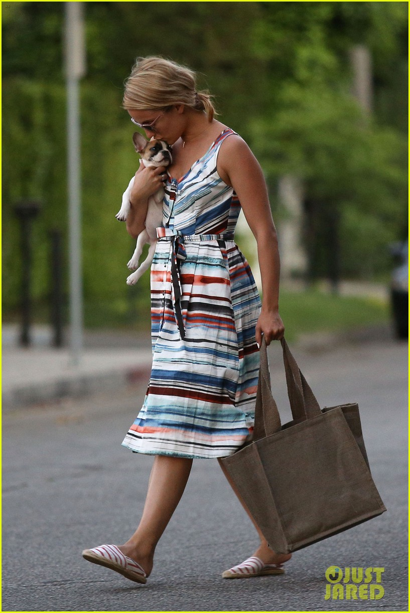 dianna agron kisses her new puppy on wednesday outing 22