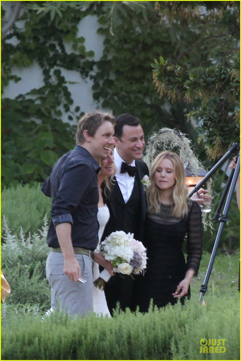 kristen bell dax shephard jimmy kimmel molly mcnearney wedding pic 13