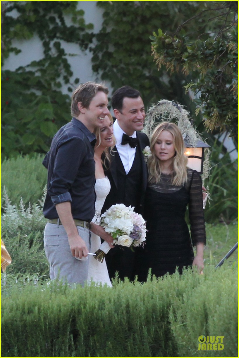 kristen bell dax shephard jimmy kimmel molly mcnearney wedding pic 15