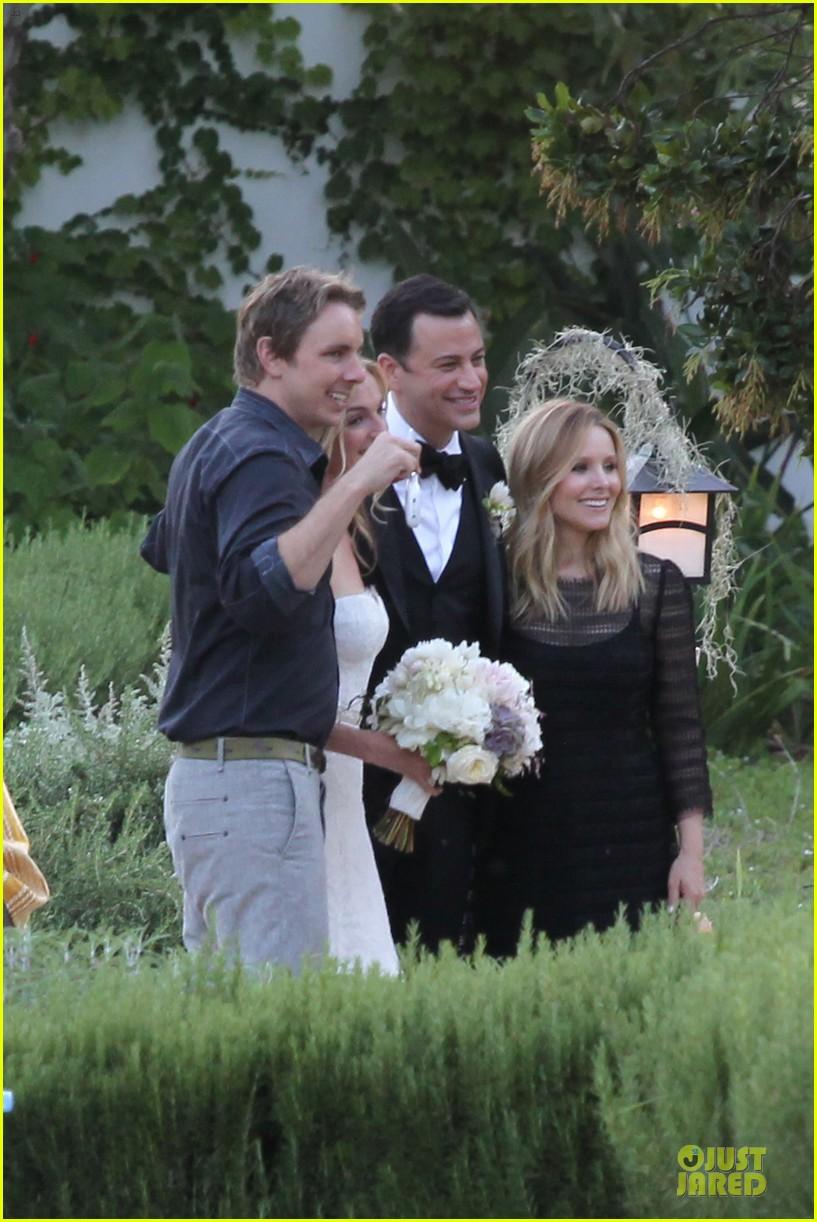 kristen bell dax shephard jimmy kimmel molly mcnearney wedding pic 17