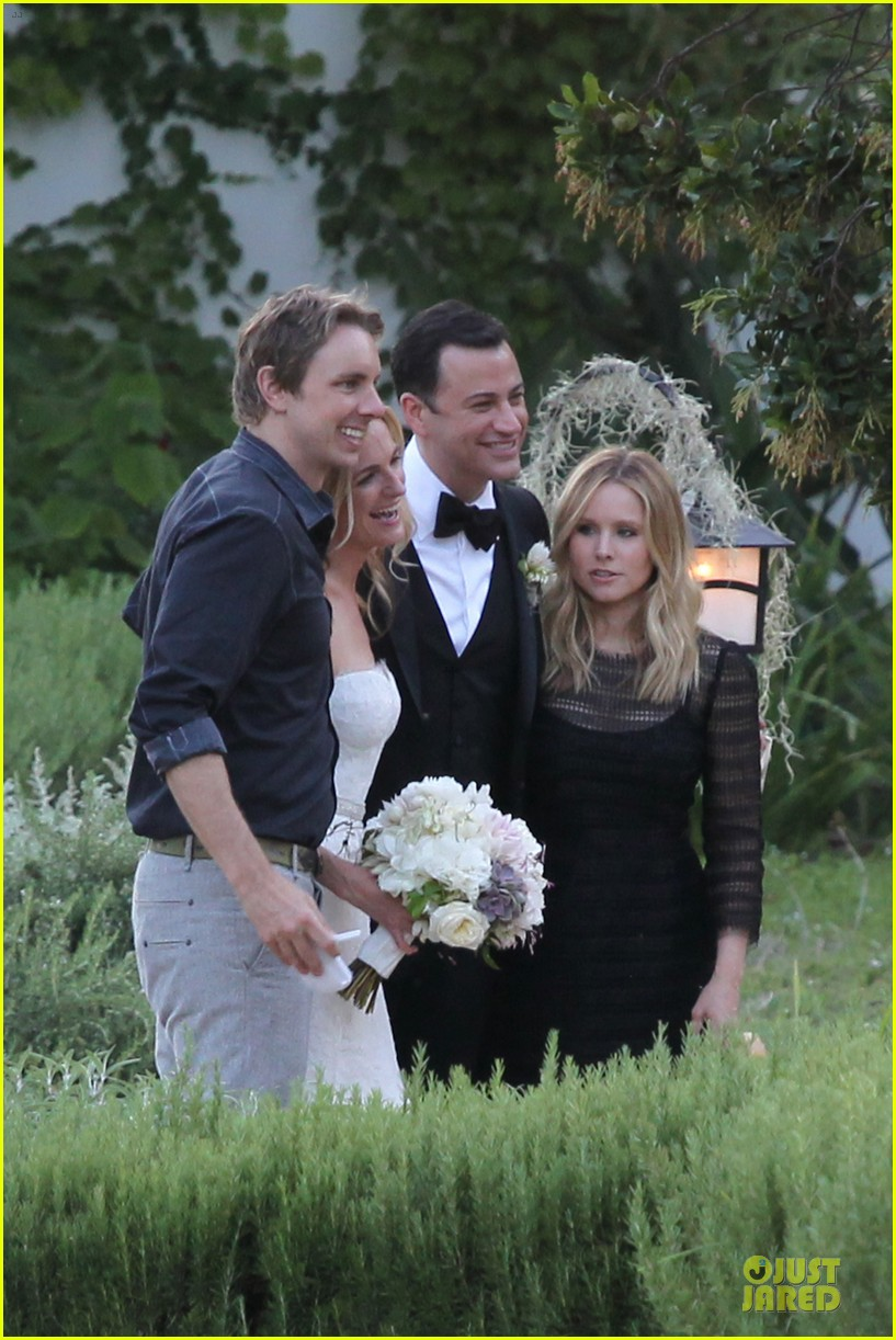 kristen bell dax shephard jimmy kimmel molly mcnearney wedding pic 182909148