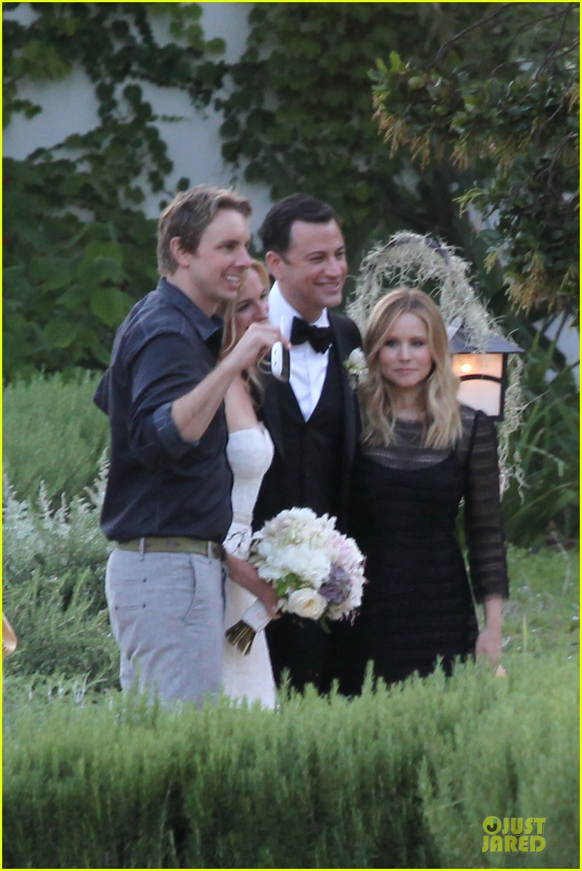 kristen bell dax shephard jimmy kimmel molly mcnearney wedding pic 202909150