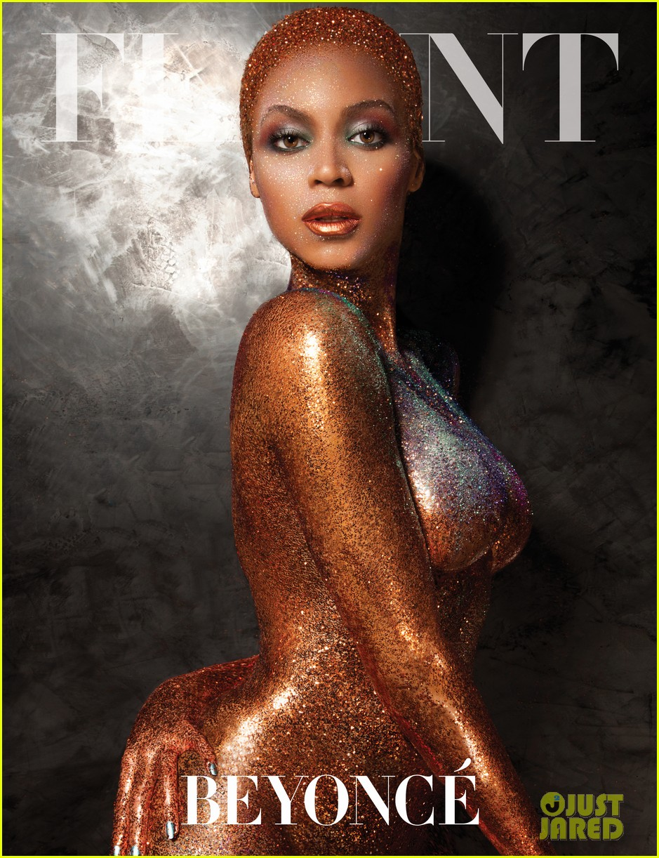 beyonce naked glittered for flaunt magazine 062907235