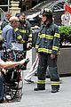 matt bomer fire fighter on white collar set 13