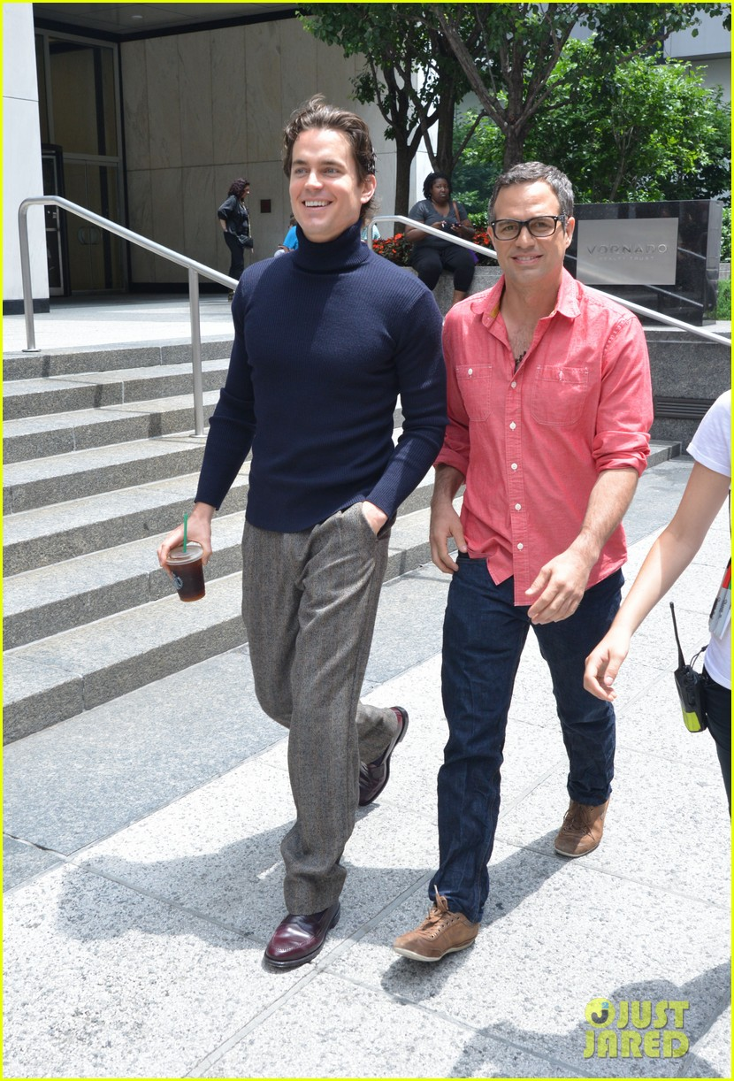matt bomer taylor kitsch film normal heart in nyc 252903274