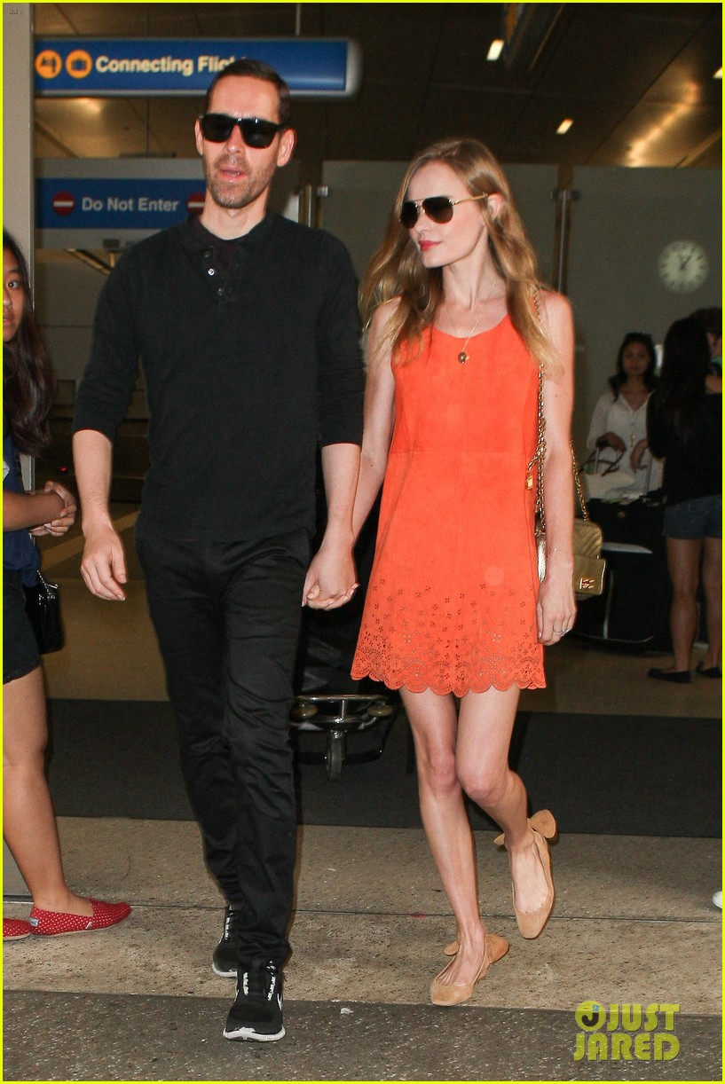 kate bosworth michael polish land at lax on july 4th 11