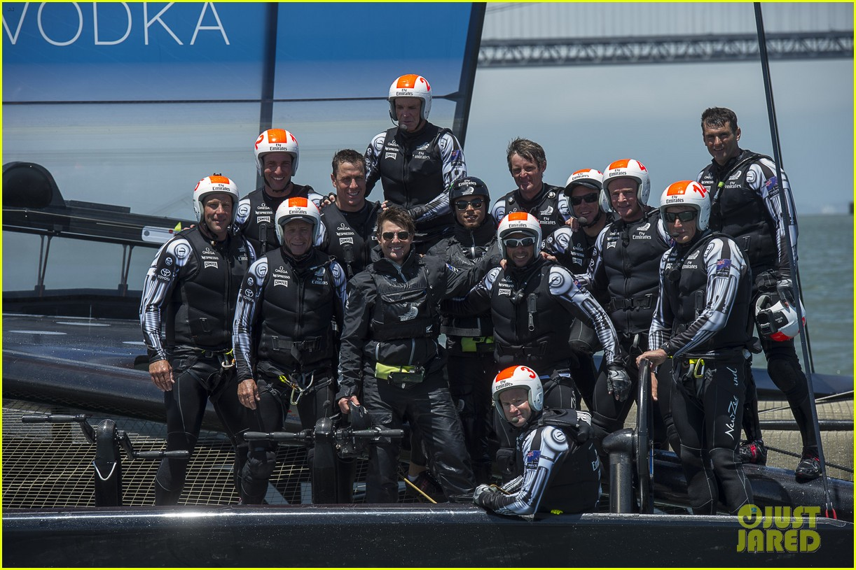 tom cruise connor emirates team new zealand sailing race 14