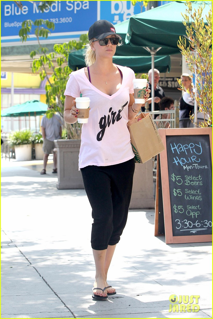 kaley cuoco saturday morning coffee run for two 012904942