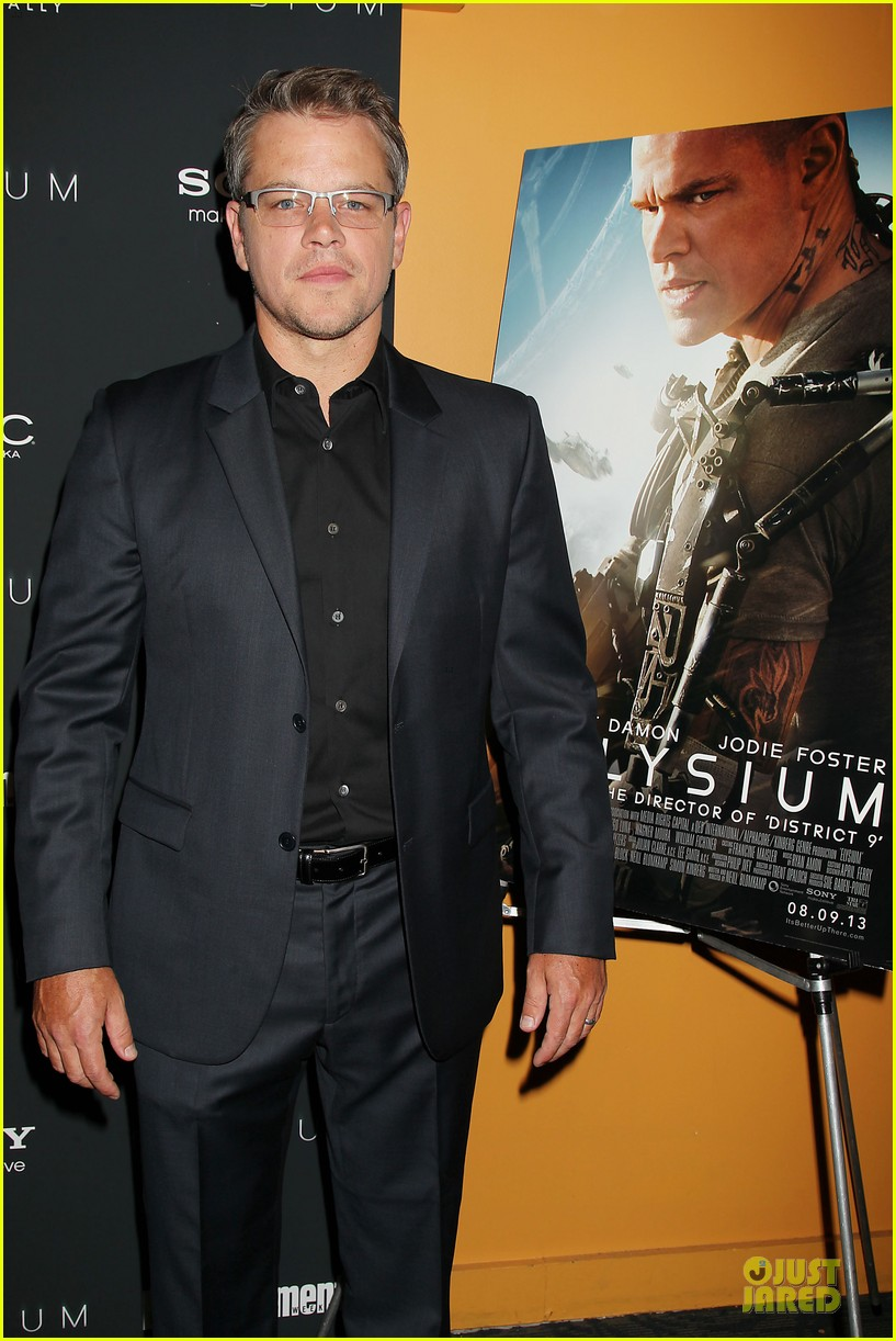 matt damon kellan lutz elysium nyc screening 072920501