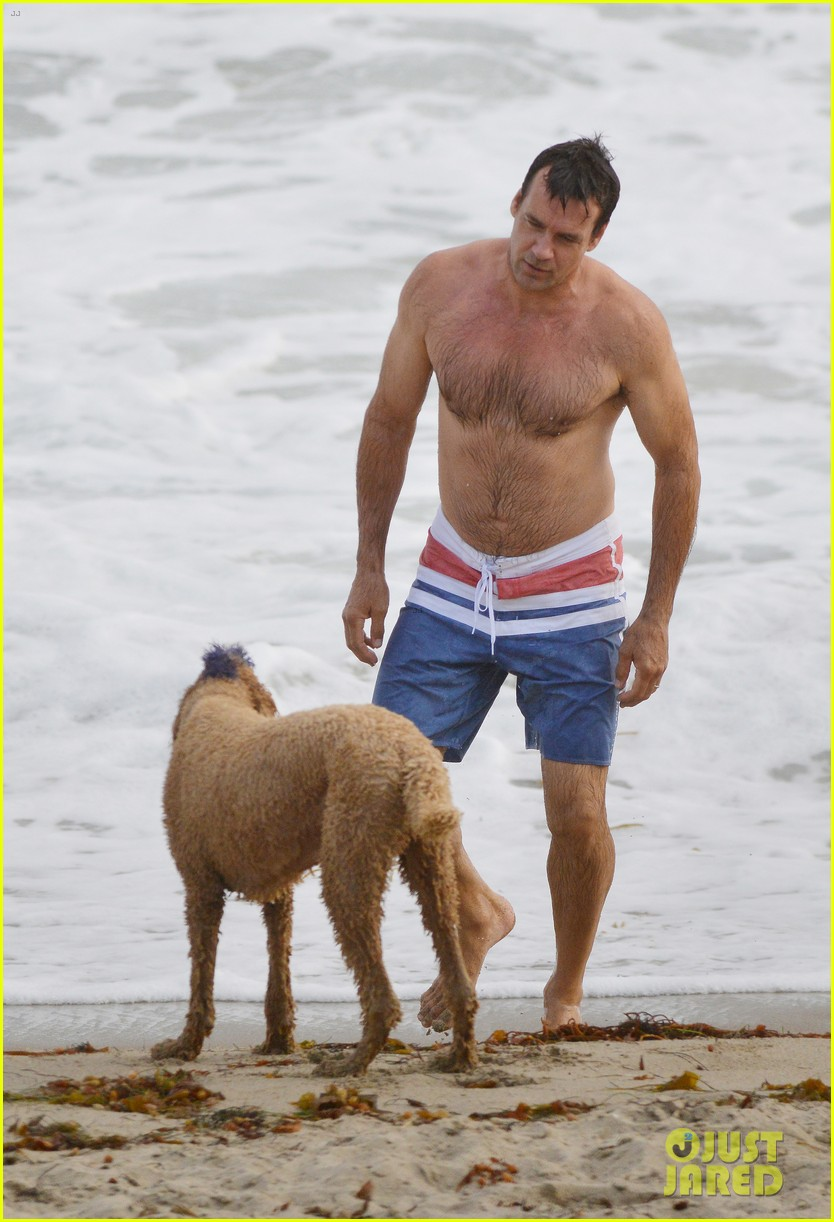david james elliott shirtless beach day in malibu 012903693