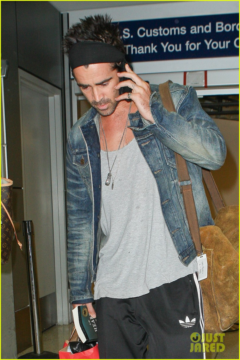colin farrell spiky hair headband for lax look 092911315