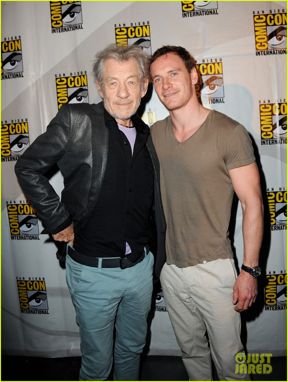 michael fassbender james mcavoy x men at comic con 012913497