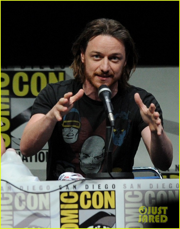michael fassbender james mcavoy x men at comic con 12
