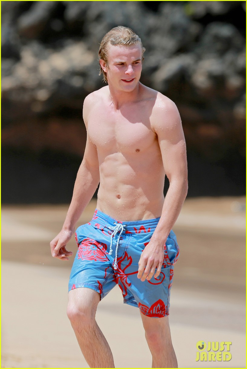 lucy hale more beach fun with shirtless graham rogers 16