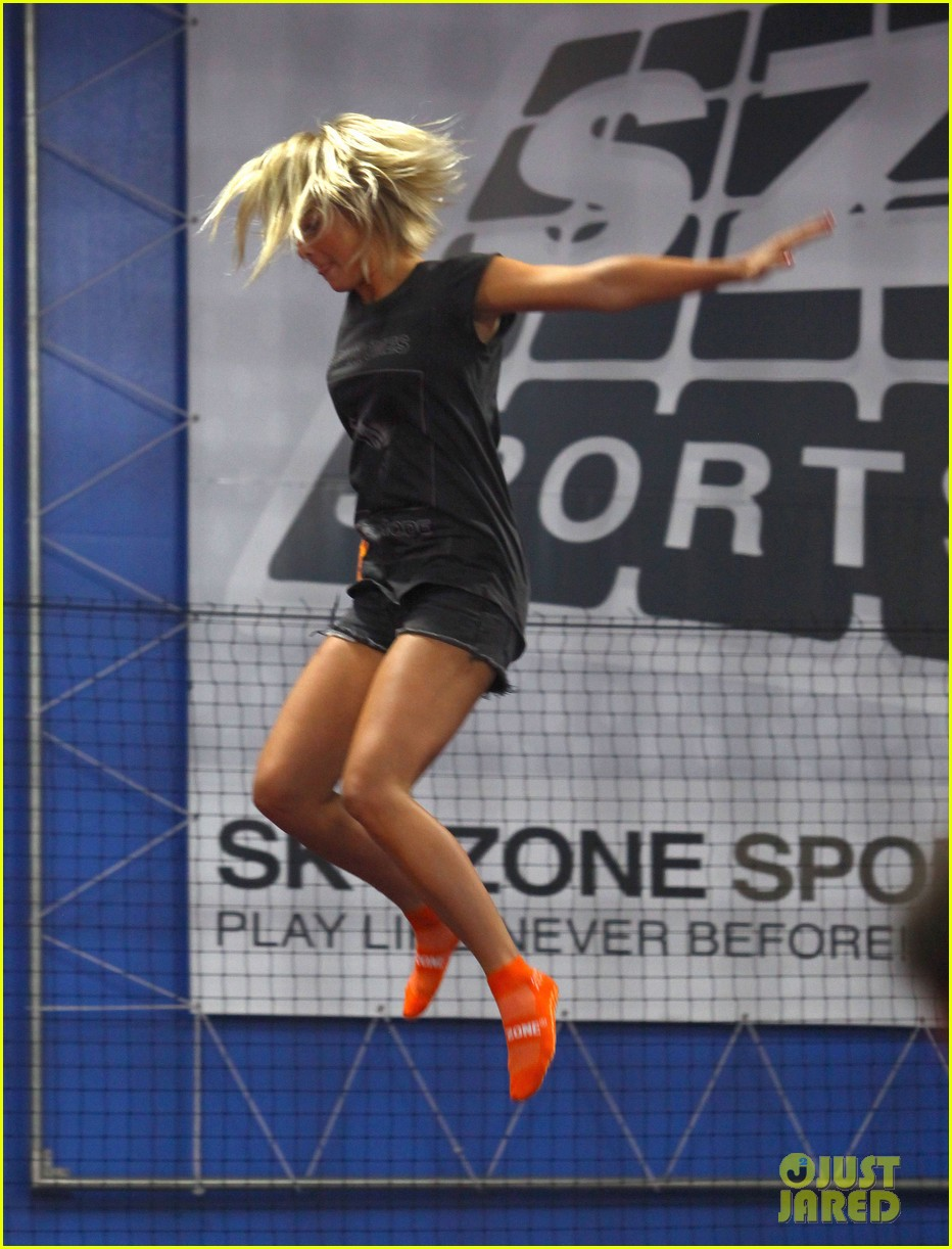 julianne hough tumbles in the air at trampoline park 12