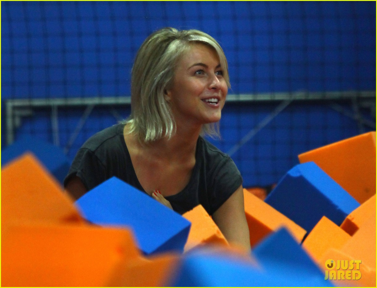 julianne hough tumbles in the air at trampoline park 19