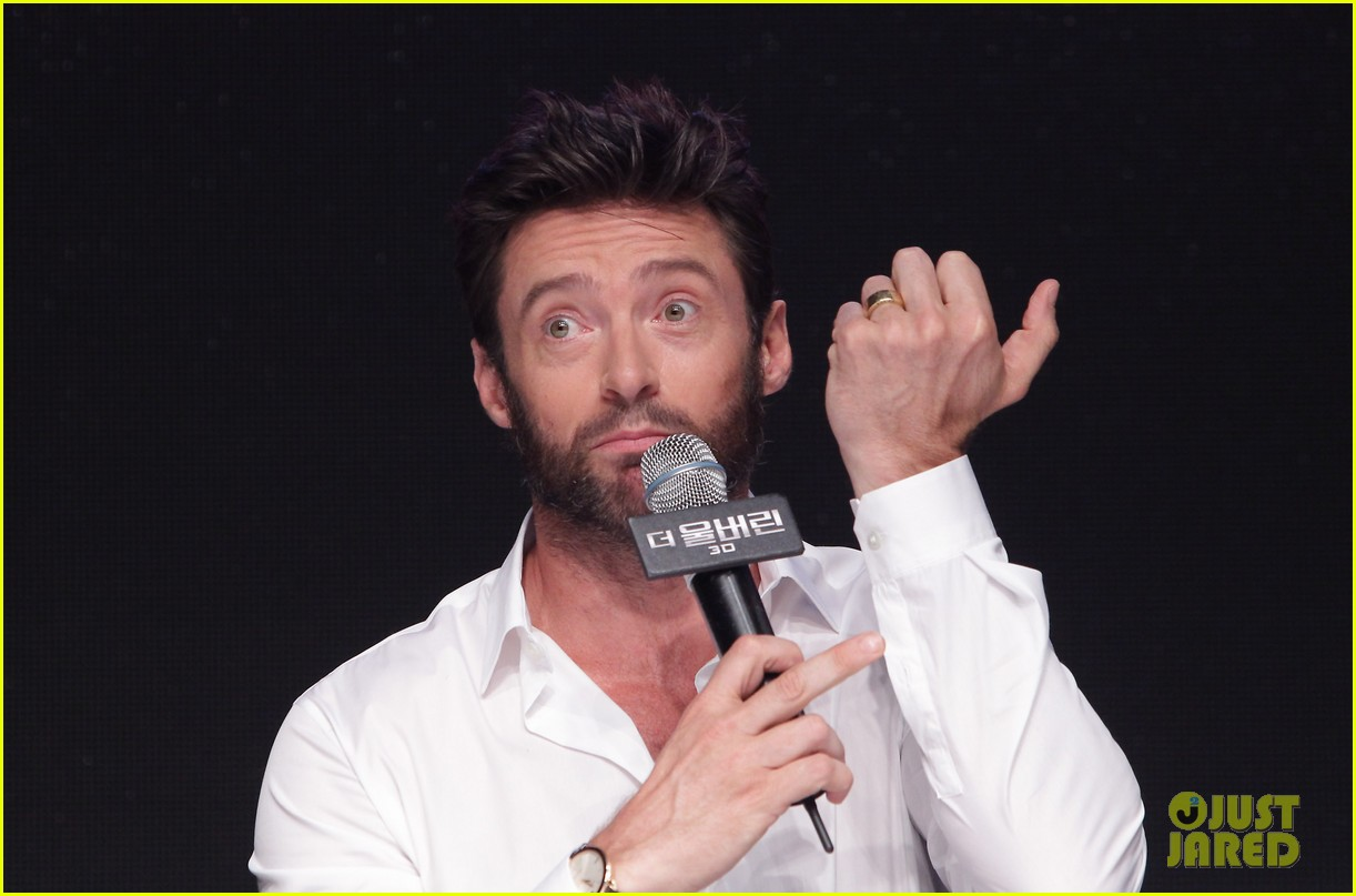 hugh jackman wolverine press conference in seoul 28