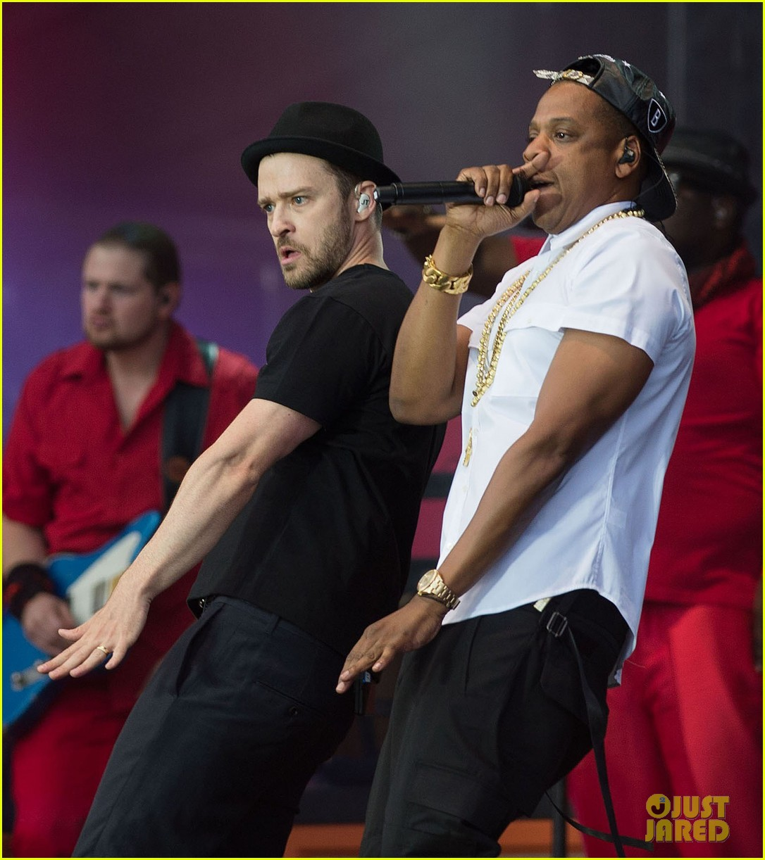 justin timberlake jay z perform at wireless festival 062909652