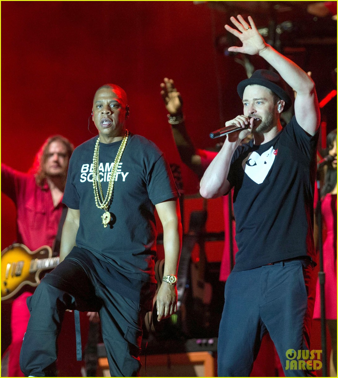 justin timberlake jay z perform at wireless festival 10