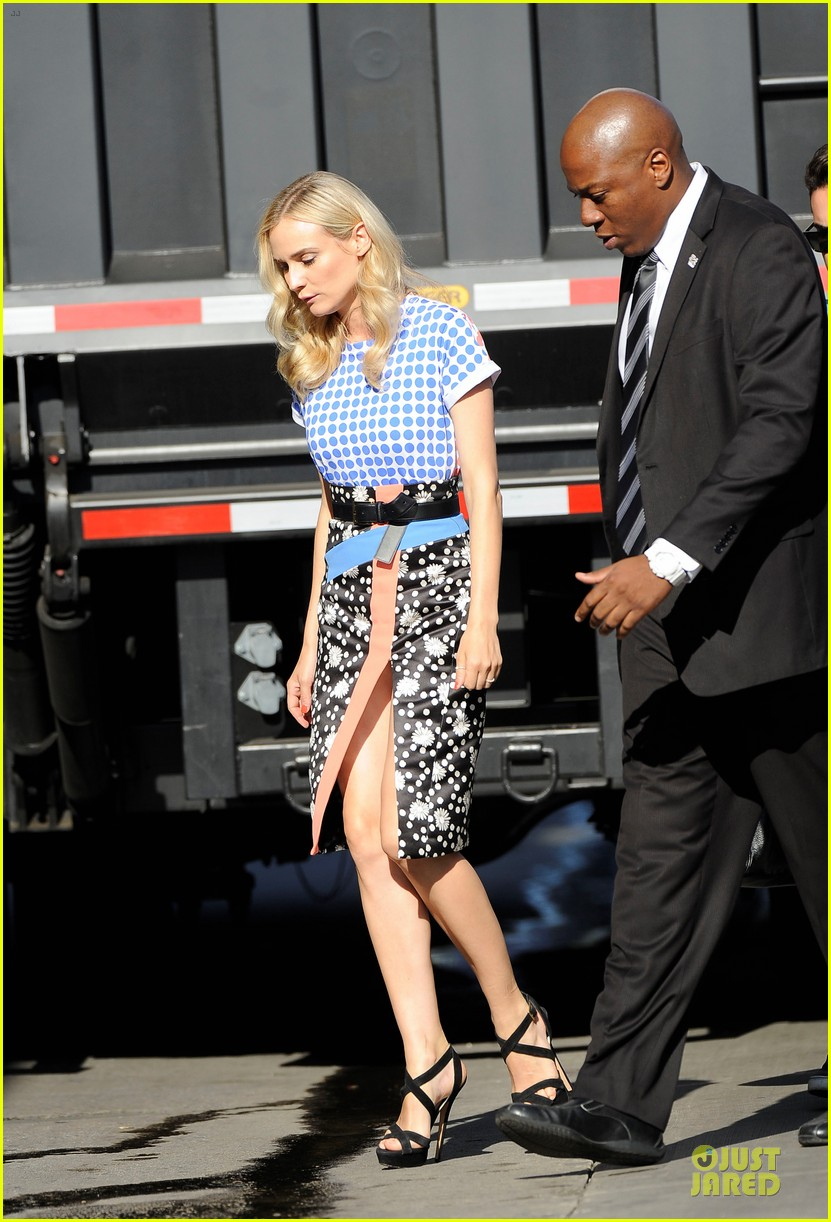 diane kruger the bridge promotion on jimmy kimmel live 05