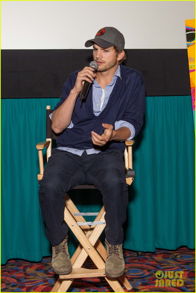 ashton kutcher jobs qa with director joshua michael stern 012917275