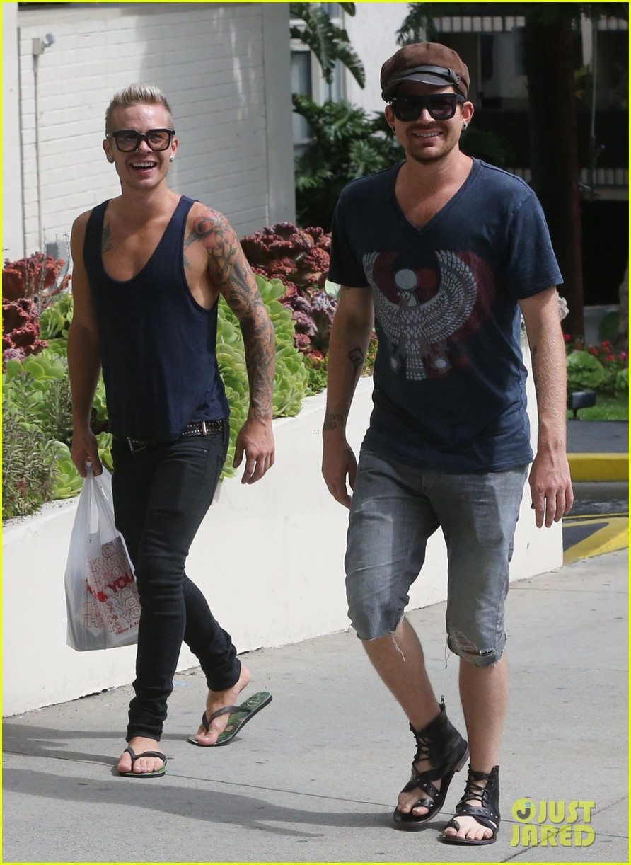 adam lambert steps out with ex sauli koskinen after cory monteith condolence 022909497