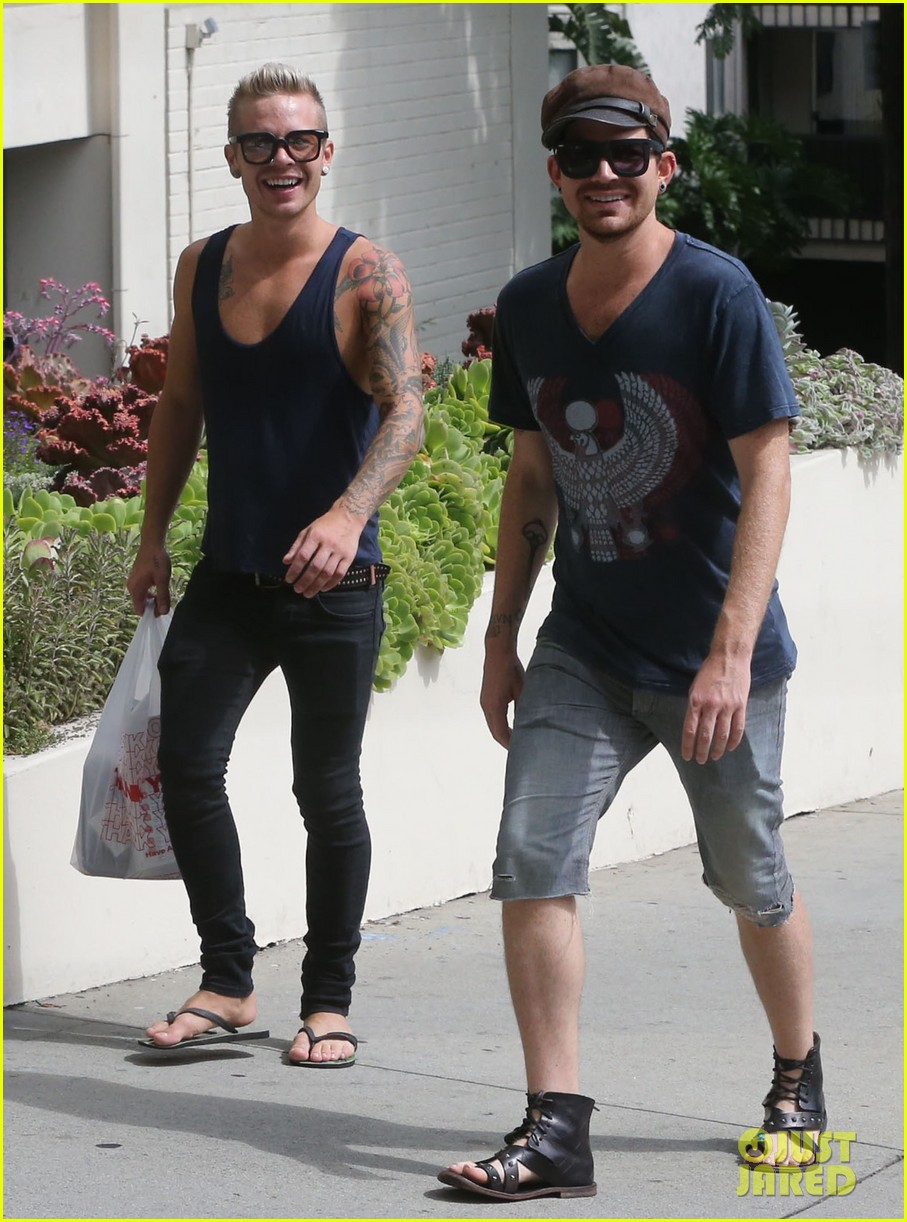 adam lambert steps out with ex sauli koskinen after cory monteith condolence 212909516