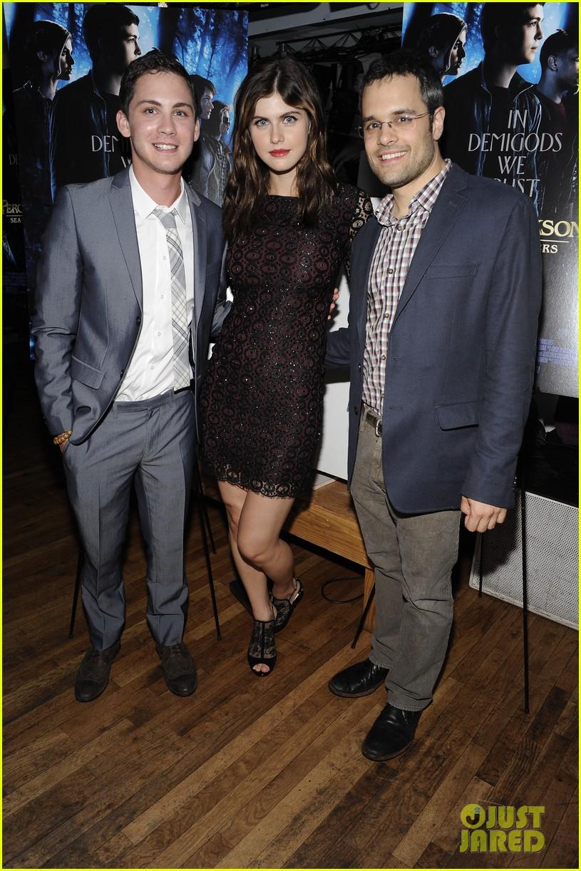 Logan lerman &; alexandra daddario: 'percy jackson' htons premiere!