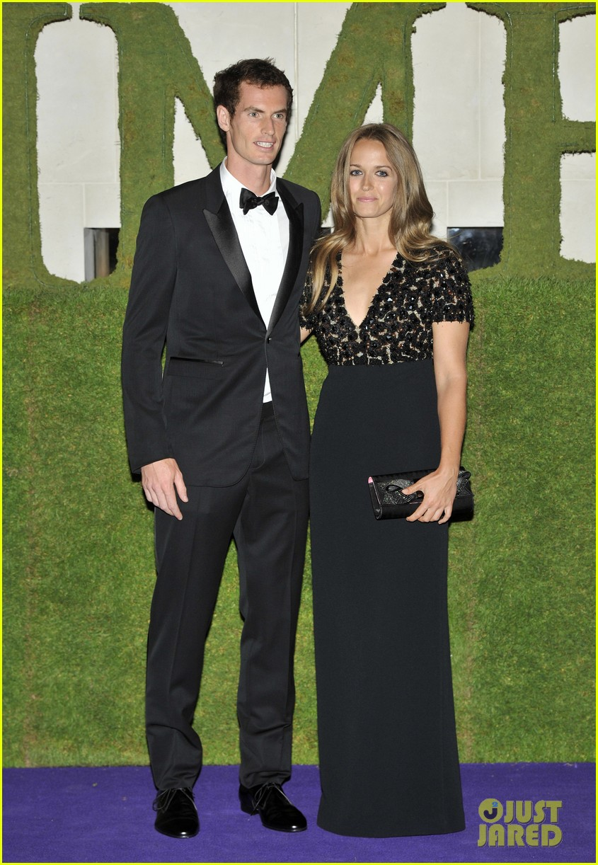 andy murray wimbledons winners ball with kim sears 092905709