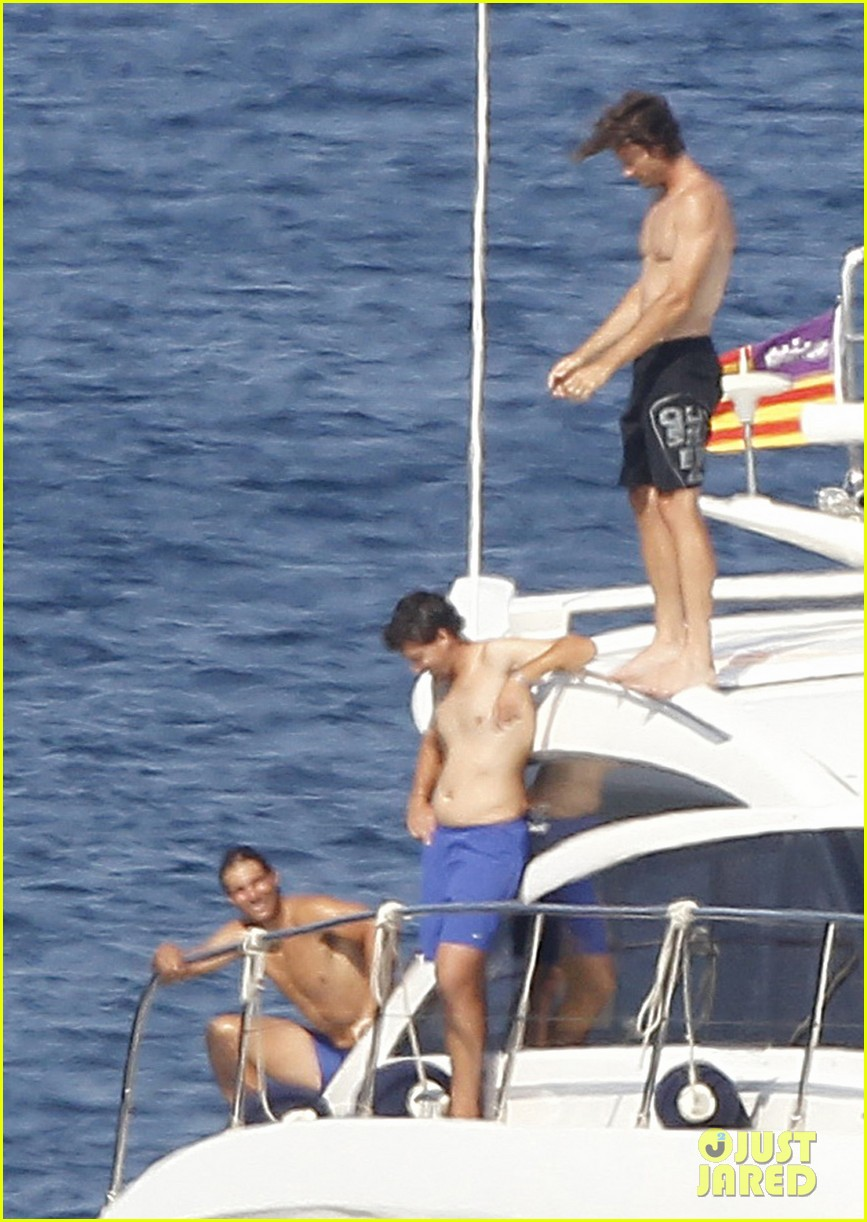 rafael nadal shirtless yacht ride with pals 052916621