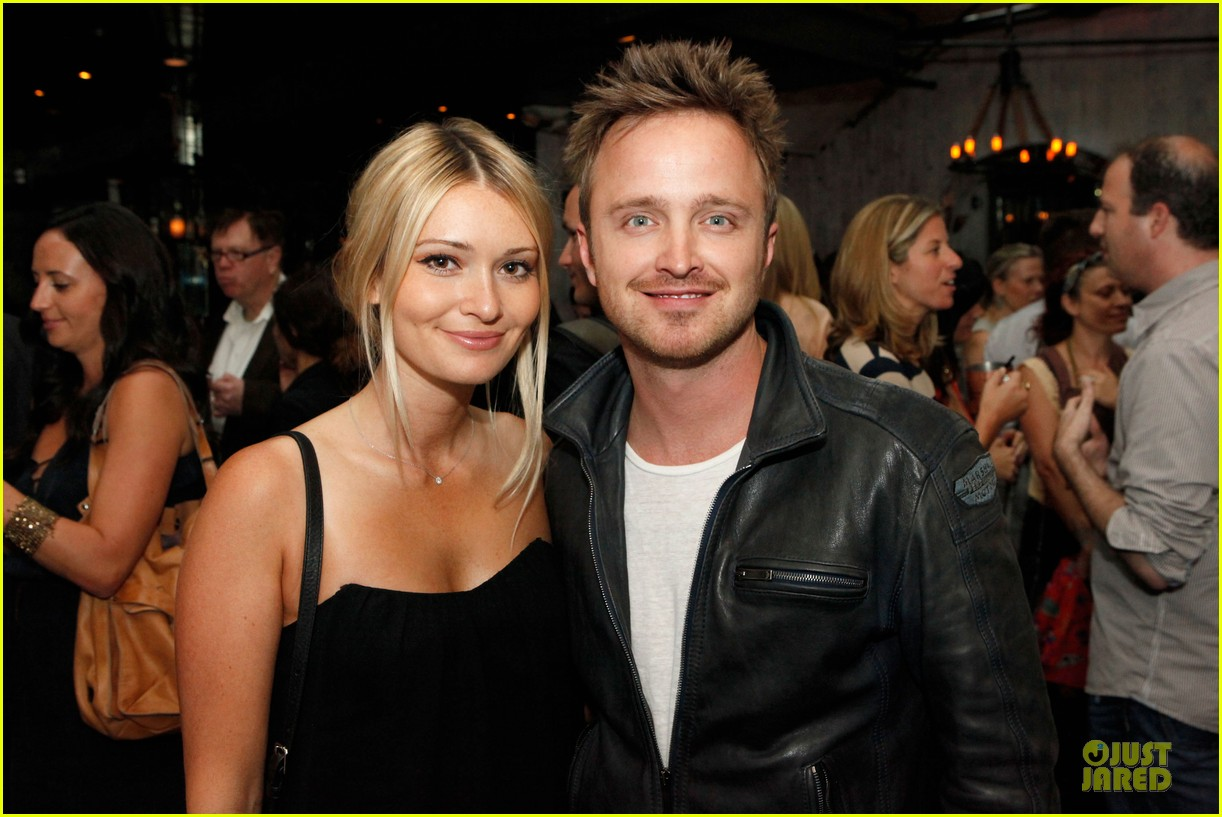 aaron paul lauren parsekian los angeles confidential event 02