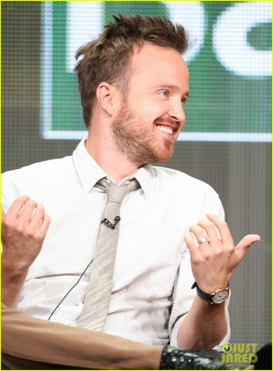 aaron paul graciously greets fans outside his home video 102917743