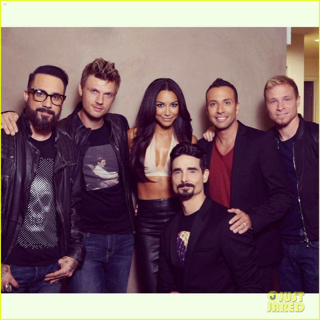 naya rivera jimmy kimmel live visit with backstreet boys 032920791