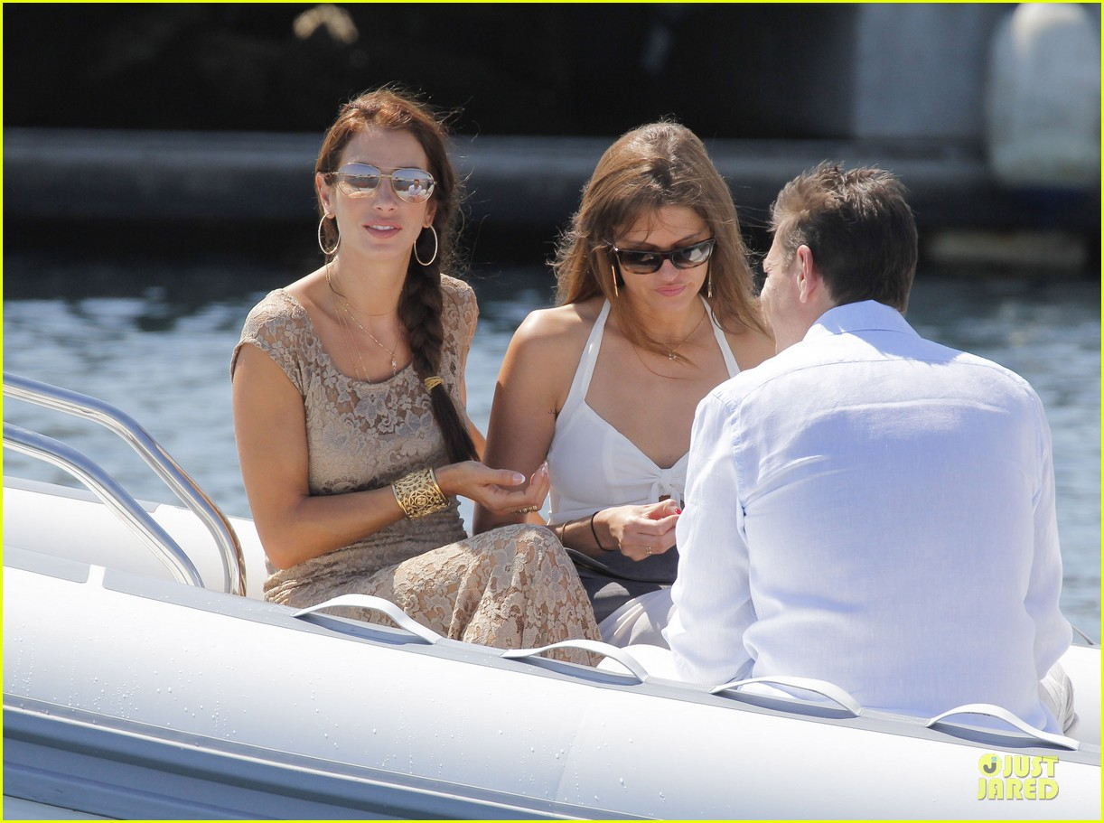 ryan seacrest dominique piek separate boat rides in france 102902837