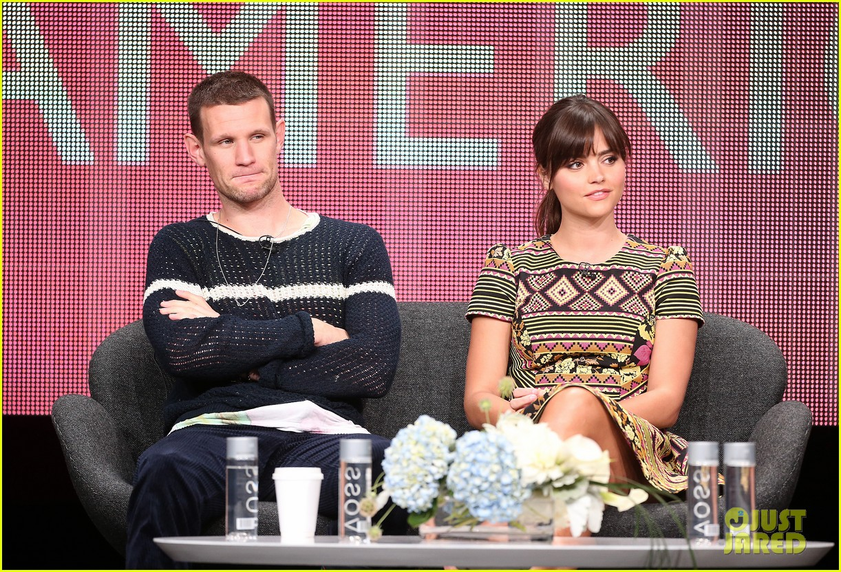 matt smith jenna louise coleman dr who tca panel 162916729