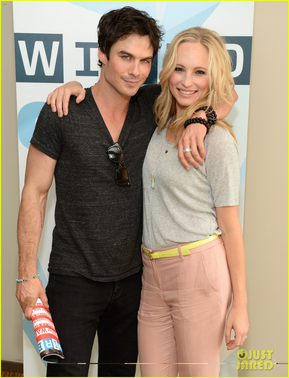 ian somerhalder comic con wired cafe with candice accola 092913268