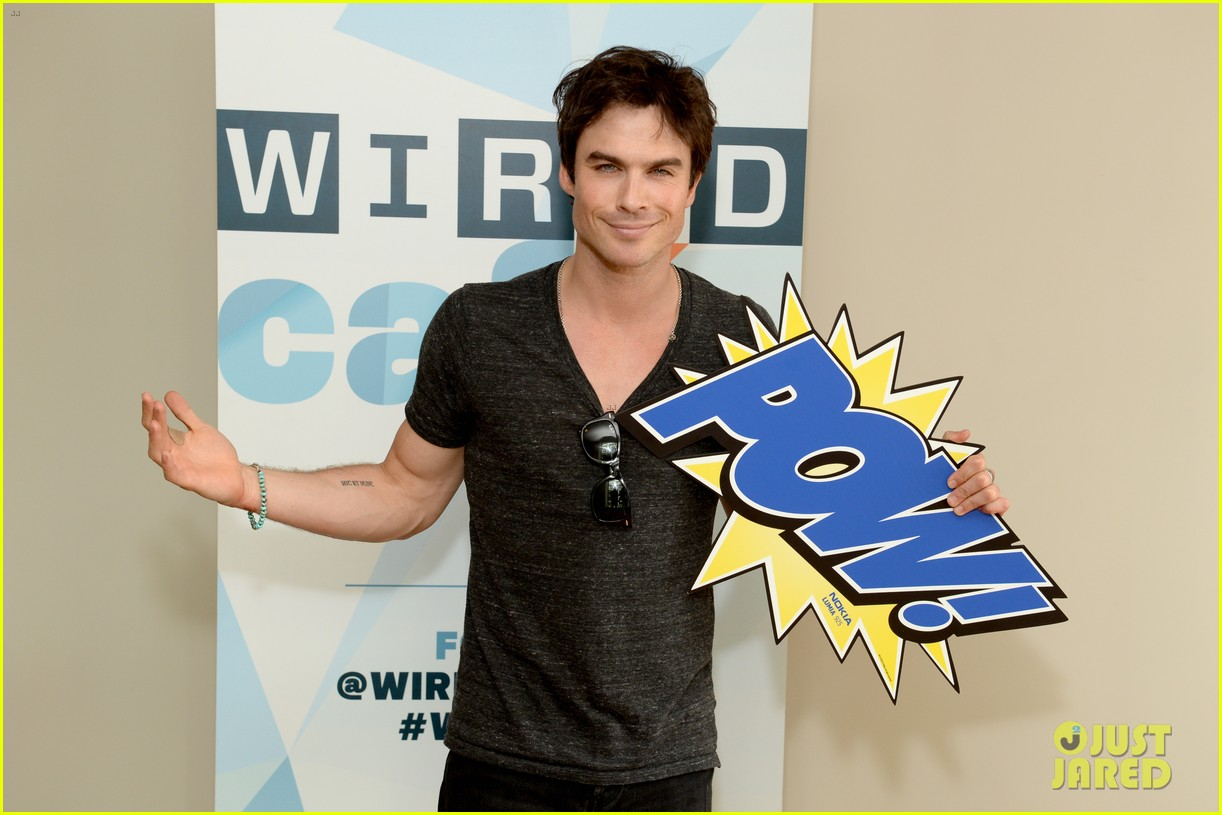 ian somerhalder comic con wired cafe with candice accola 122913271