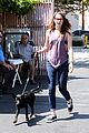 kristen stewart bra revealing walk with new puppy 09
